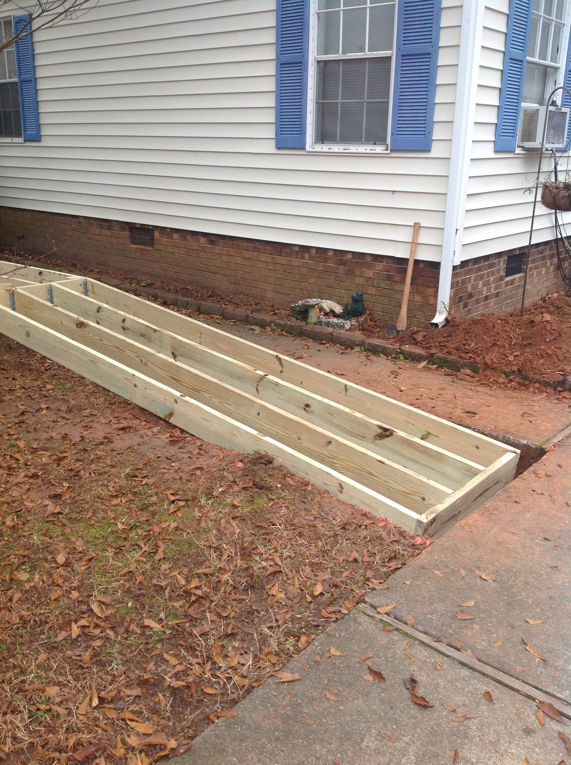 VFW Post Garner NC building a wheelchair ramp